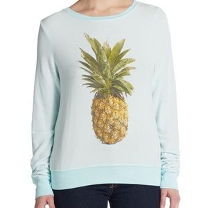 Wildfox pineapple sweatshirt in blue